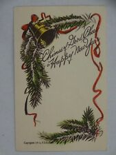 c1910 New Year Postcard Lee MT to Maud E Case Canton MN