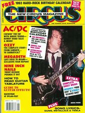 Angus Young AC/DC Circus magazine 1993 Calendar Proud Mary Decadence Dance tab
