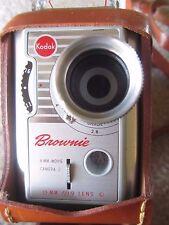 Vintage Kodak Brownie 8mm Movie Camera with f/1.9 lens, telephoto lens & Case