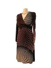 GUESS by MARCIANO Made in Italy black / pink print dress IT 42 - UK Small / XS