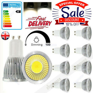 4/8X GU10 9W 12W 15W Dimmable LED Spotlight COB Light Bulb Warm Cool White Lamp