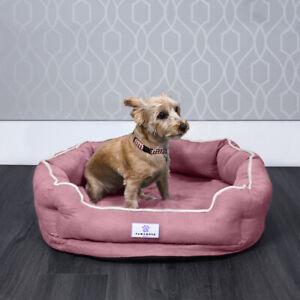 Pawamore Memory Foam Pet Orthopaedic Comfort Nest Sofa Cat Dog Bed - Medium Pink