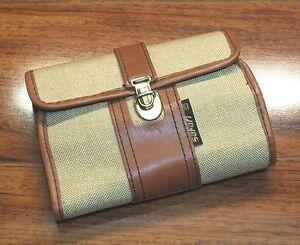 Safari Manicure Essential Kit Razor, Comb & ToeNail Clippers in Faux Canvas Case