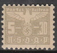 Stamp Germany Revenue WWII 1935 3rd Reich War Era Party Dues 05.30 MNH