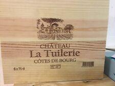 6 bouteilles caisse bois Château La Tuilerie Côtes de Bourg millésime 2018