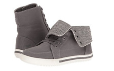 NEW ROCKET DOG PENWELL GRAY CANVAS ANKLE BOOTS SNEAKER BOOTS WOMENS 6 FREE SHIP