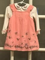 First Impressions Baby Girls Dress size 24 months 2 piece Pink Floral Jumper Top