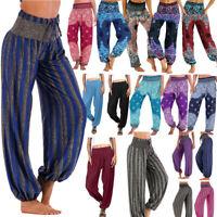 Indian Women Hippie Aladdin Yoga Pants Gypsy Genie Baba Harem Trousers Plus Size