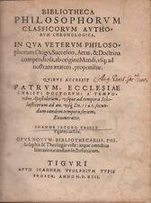 Fries Bibliotheca Philosophorum classicorum authorum chronologicain 1592