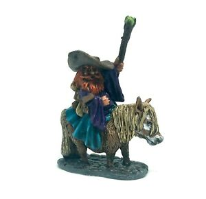 Reaper Miniatures Dwarf Battle Mage On Pony Dnd - Painted