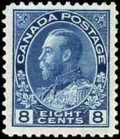 Canada #115 mint VF OG HR H 1925 King George V 8c blue Admiral CV$60.00