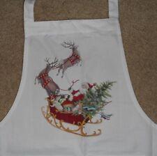 New listing New Mary Lake Thompson Perfect 2 Pocket Apron Misprint Santa and Sleigh