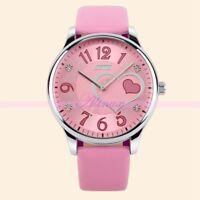 Love Heart Leather Watch Girl's Lovely Bracelet Watch Quartz Analogue Christmas