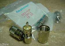 6 Amphenol PL-259 UHF Plugs for RG-8, 213, 214, LMR-400 Coax Cable