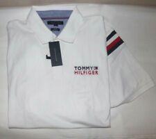 NWT MENS Tommy Hilfiger S/S Polo Shirt~SLIM FIT~White~SZ XL