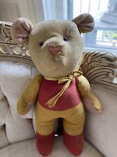 New ListingAntique Velveteen Winnie The Pooh Stuffed Bear Vtg Glass Eyes Jointed Arms