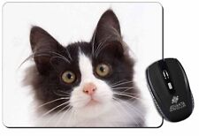 Black and White Cat Computer Mouse Mat Christmas Gift Idea, AC-200M