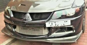 Mitsubishi Lancer EVO 8 VIII Varis Style Front Splitter Lip   Polyurethane Black
