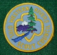 VINTAGE GIRL SCOUT PATCH - WESTERN RIVERS GIRL SCOUT COUNCIL