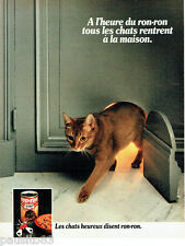 PUBLICITE ADVERTISING 016  1982  Ron-Ron  aliment pour chat au boeuf