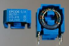 60pcs 2 x 4.7mH inductor common mode chokes line vertical B82791H15A16 EPCOS TDK