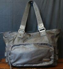 "Woman's Kenneth Cole Reaction 17"" Gray Metallic Shoulder Bag Tote Shopper Purse"