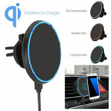 Fast Qi Wireless Car Charger Magnetic Air Vent Mount Holder For iPhone Sams Z7W5