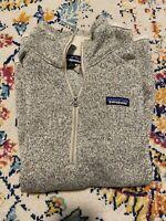Womens Patagonia Better Sweater 1/4 Zip Fleece Pelican Size M