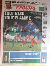 L'Equipe du 14/2/2004 - Avant France-Irlande - Monaco - Pierce Golovin - Poirée