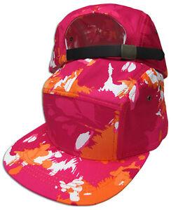 5 Panel Fashion Cotton Leather Strap back Adjustable Cap Hat JLG NEW