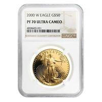 2000 W 1 oz $50 Proof Gold American Eagle NGC PF 70 UCAM