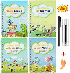 4x Sank Magic Handwriting Practice Copybook Preschool Calligraphy Book For Kids
