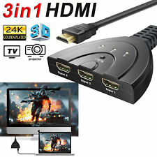 3 Port HDMI Multi Display Auto Switch Hub Splitter 1080P Cable HD TV Adapter new