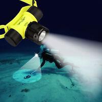 LED Torch Underwater Waterproof Diving Headlamp Flashlight Headlight 18650