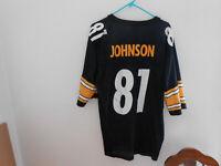 Vintage Pittsburgh Steelers Charles Johnson Starter Jersey XL 52