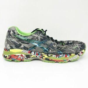 Asics Mens Gel Nimbus 18 Comic T6K4N Black Gray Running Shoes Lace Up Size 9.5