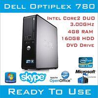 CHEAP DELL OPTIPLEX 780 INTEL CORE2 DESKTOP PC COMPUTER 4GB 160HDD