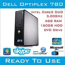 Bon Marché Dell Optiplex 780 Intel Core 2 Desktop PC Ordinateur 4 Go 160HDD