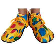 Adult Clown Shoe Spotty Covers Footwear Circus Fancy Dress Accessories Costume