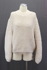 .NWT$3460 Brunello Cucinelli Womens Cashmere CableKnit Chunky Sequin Sweater SzM