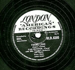 TAB HUNTER 1957 UK #1 78 YOUNG LOVE / RED SAILS IN THE SUNSET LONDON HLD 8330 E-