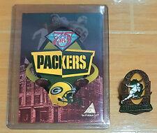 VINTAGE '94 PINNACLE 75 YEAR RETROSPECT GREEN BAY PACKERS TRADING CARD & PIN SET
