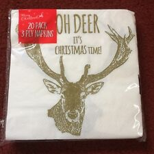 20pk Christmas Themed Deer Napkins