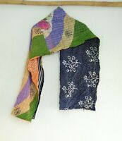 Cotton Kantha Scarf Neck Wrap Stole veil Hand Quilted Women Shawl Stitched