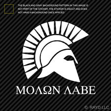 (2x) Molon Labe Sticker Die Cut Vinyl Decal come and take them 300 spartans #3