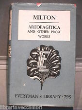 AREOPAGITACA AND OTHER PROSE WORKS John Milton Letteratura straniera inglese di