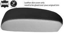 BLACK & WHITE TOP GRAIN REAL LEATHER ARMREST COVER FITS MAZDA CX5 CX-5 12-15
