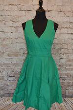 Modcloth Beguiling Beauty Dress Emerald A-line NWOTD Sz L pleating