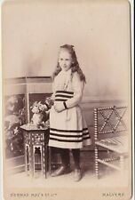 OLD CABINET PHOTO FASHION CHILDREN GIRL DRESS SHOES MALVERN NORMAN MAY  F2