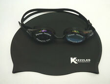 Swimming Cap, Goggles, Ear Plug & Nose Clip-Black (Swimming Set) – By Kezzled